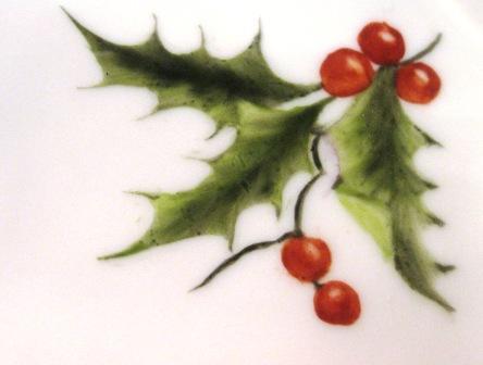 D cor de noel maivlys 39 s blog de porcelaine - Decoration de noel avec du houx ...